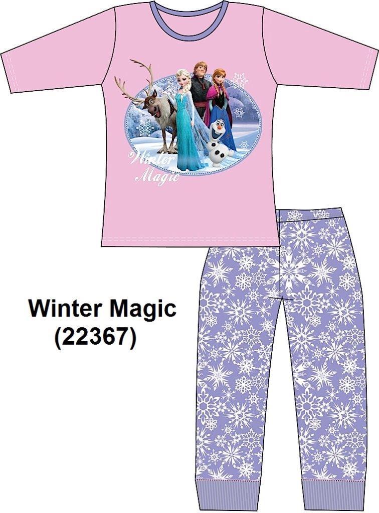 Disney Frozen Girls Long Sleeve Pyjamas Set  Sisters Anna & Elsa Nightwear Olaf