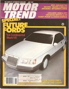 Motor Trend July 1982