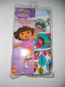 Dora The Explorer Girls 4T Panties Underwear Briefs