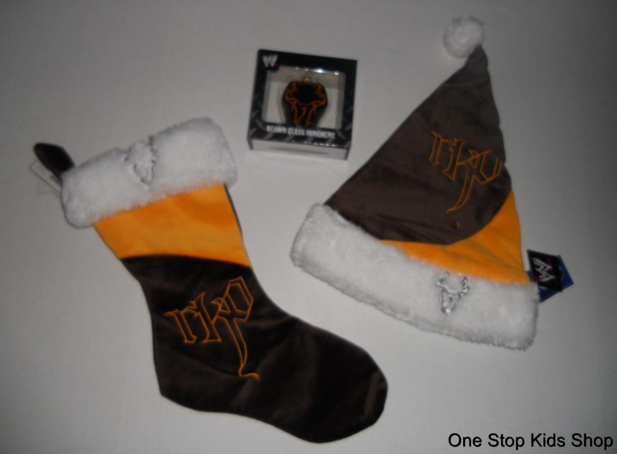 randy orton wrestling wwe holiday christmas stocking tree ornament santa hat
