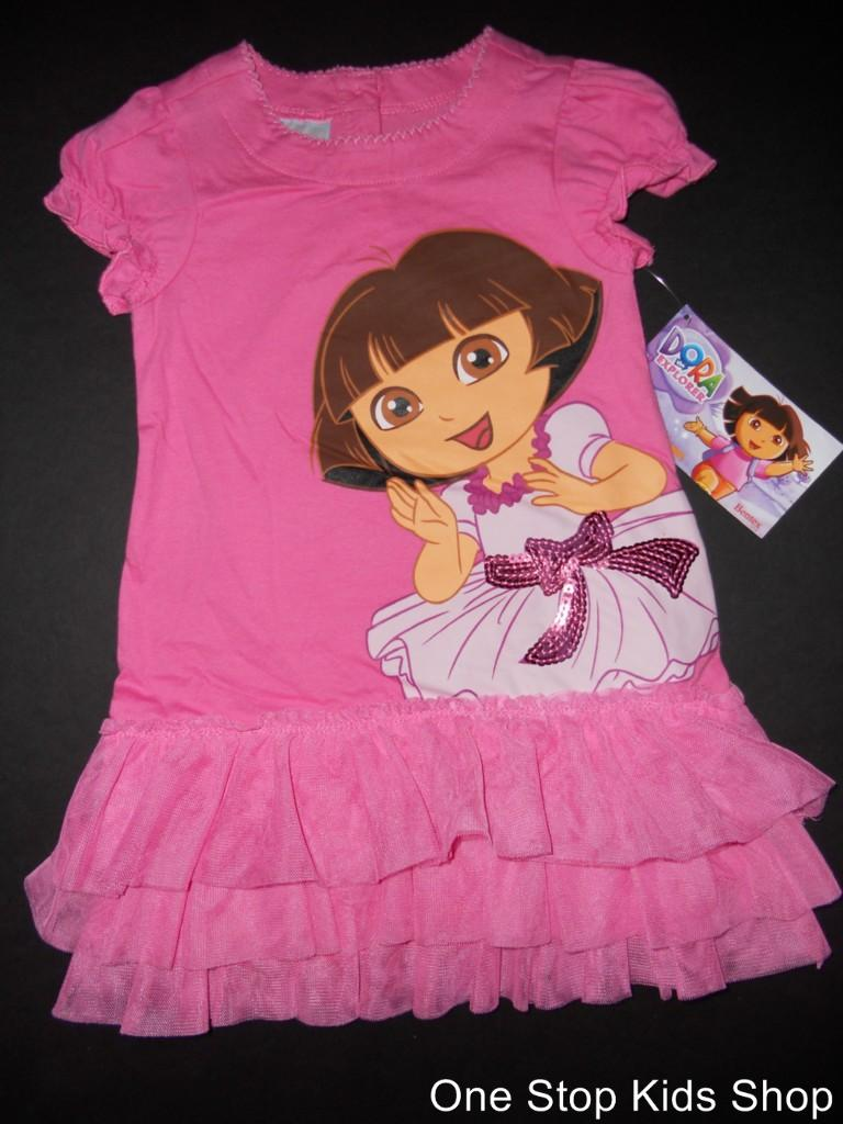DORA THE EXPLORER Girls 2T 3T 4T 5T Skirt TUTU Outfit