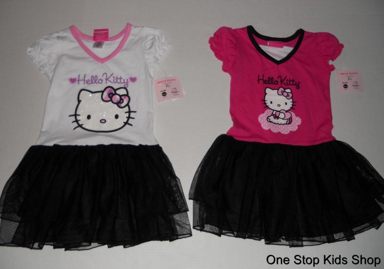 HELLO KITTY Girls 5 6 Outfit Set DRESS Skirt TUTU Shirt Top
