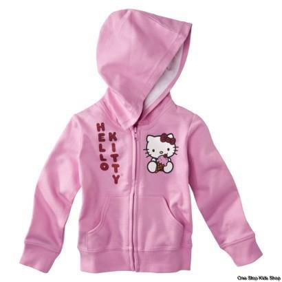 HELLO KITTY Girls 2T 3T 4T Sweatshirt HOODIE Shirt Top Jacket Coat ICE