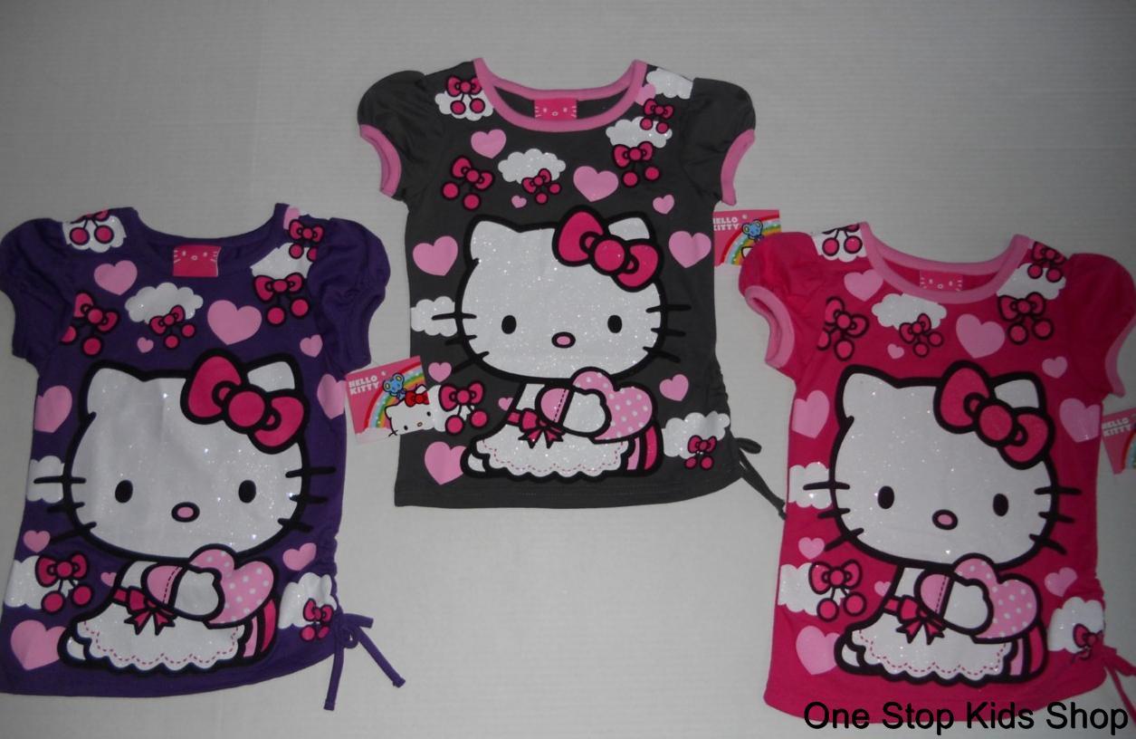 HELLO KITTY Girls 4 5 6 6X Short Sleeve SHIRT Top