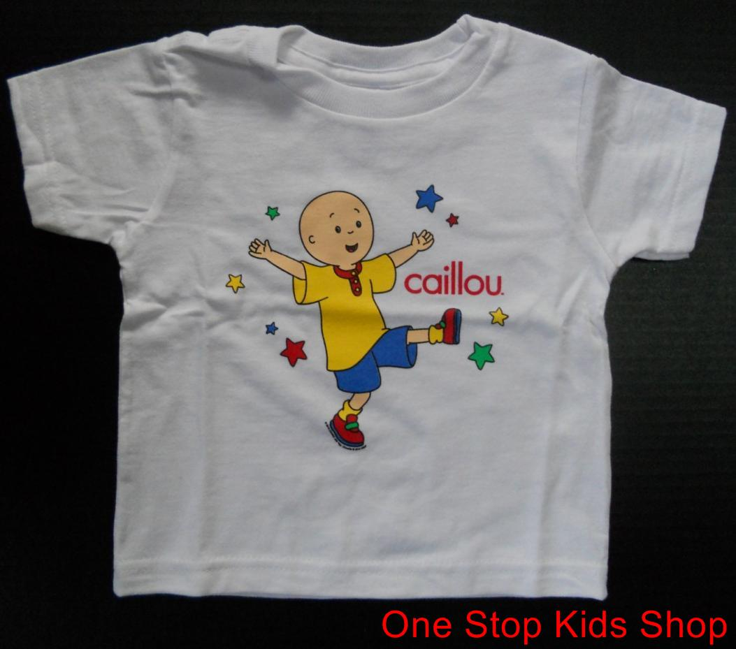 CAILLOU Toddler Boys Girls 2T 3T 4T Short Sleeve SHIRT Tee Top PBS