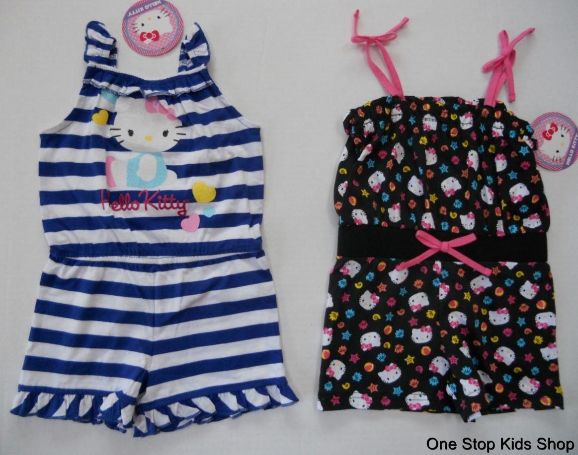 HELLO KITTY Girls 24 Mo 2T 3T 4T 5T Set Outfit JUMPER Romper Shirt