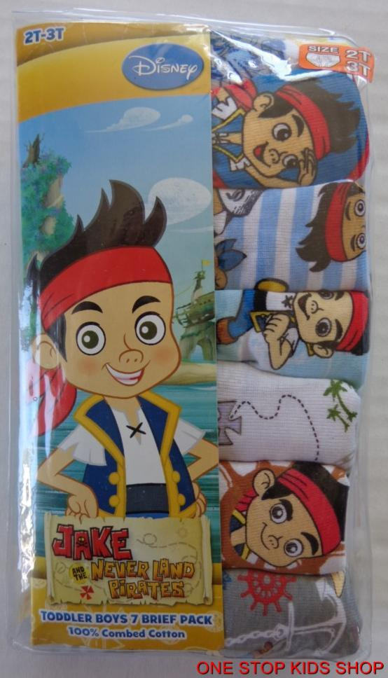 28ebbc54c3a7 Jake and The Neverland Pirates Boys 2T 3T 4T Briefs 7 Pairs ...