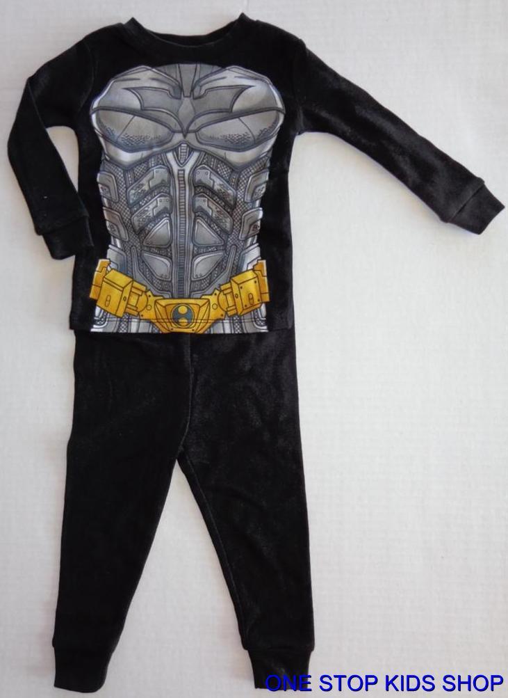 Batman Boys 12 18 24 Months Costume Pajamas Pjs Set Shirt