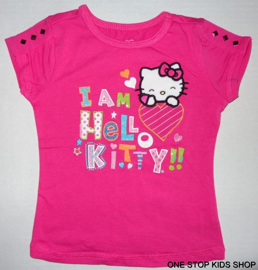 Hello Kitty Girls 2T 3T 4 5 6 Top Shirt Tee