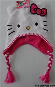 hello kitty girls laplander costume hat cap beanie
