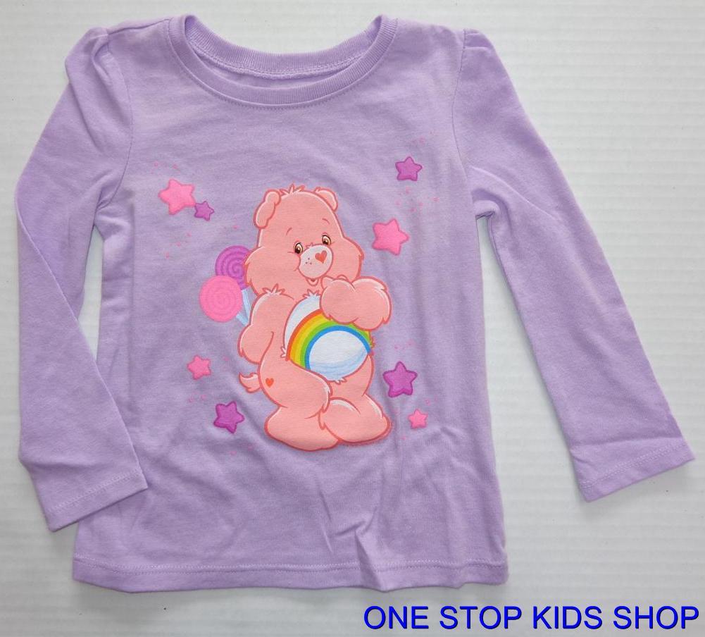 CARE BEARS Toddler Girls 2T 3T 4T 5T Long Sleeve Tee SHIRT Top
