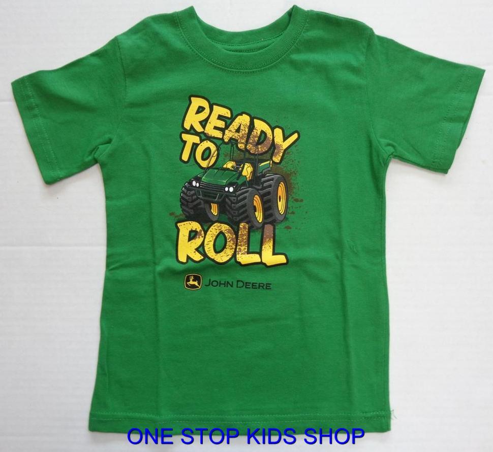 John deere boys 2t 3t 4t 4 5 6 7 short sleeve tee shirt for John deere shirts for kids
