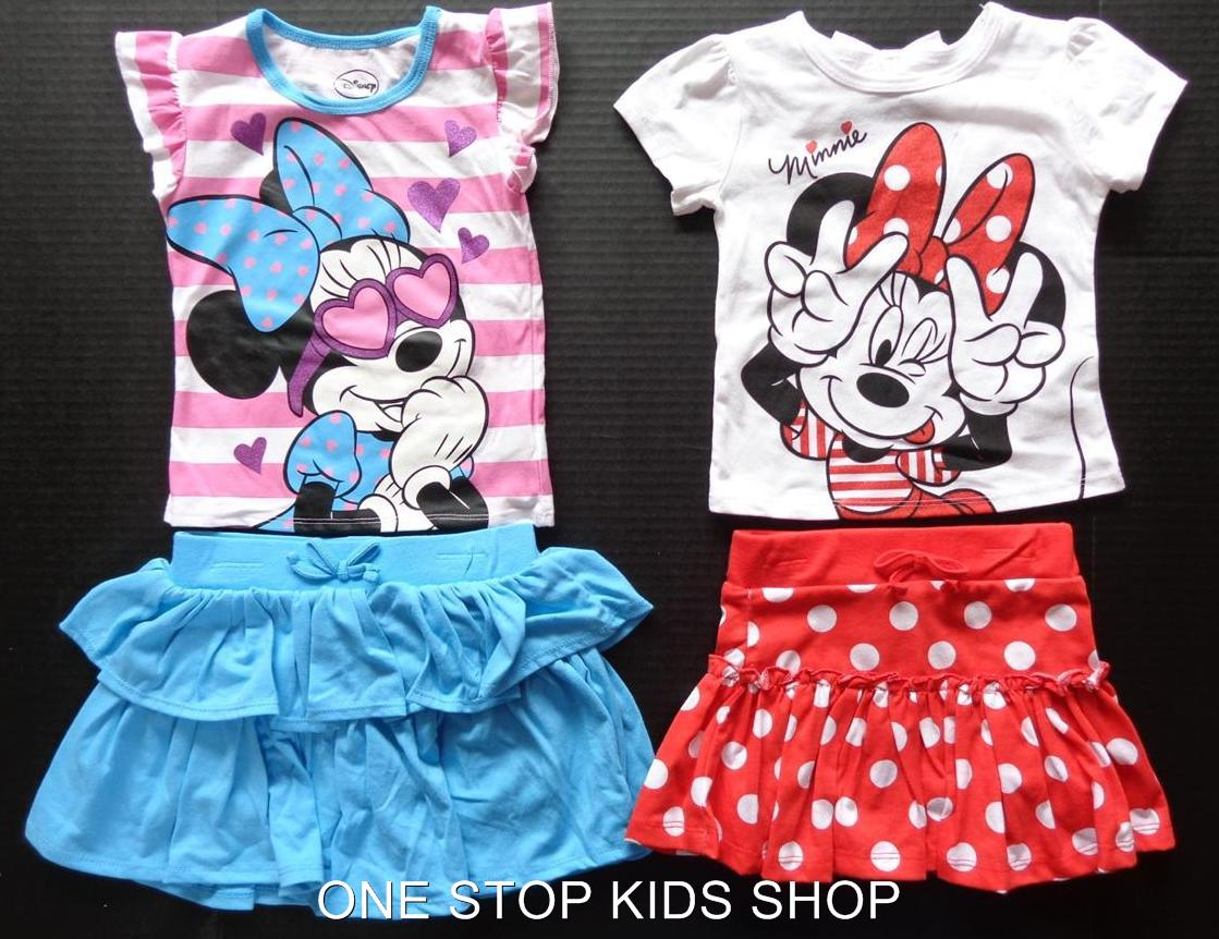 MINNIE MOUSE Girls 2T 3T 4T 4 5 6 6X Set OUTFIT Shirt Skort DISNEY in Clothing, Shoes & Accessories, Baby & Toddler Clothing, Girls' Clothing (Newborn-5T) | eBay