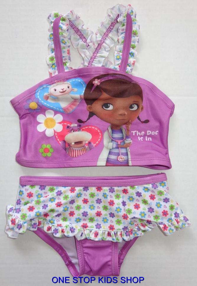 DOC-MCSTUFFINS-Girls-2T-3T-4T-5T-Bathing-Swim-Suit-SWIMSUIT-Tankini-DISNEY