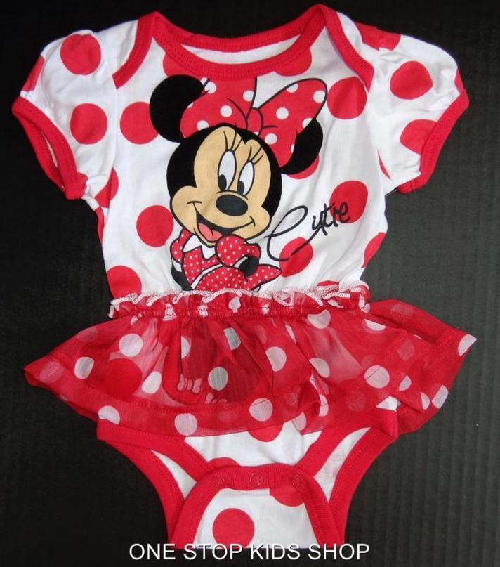 MINNIE MOUSE Infant Girls 0 3 6 9 Months Set Outfit DRESS