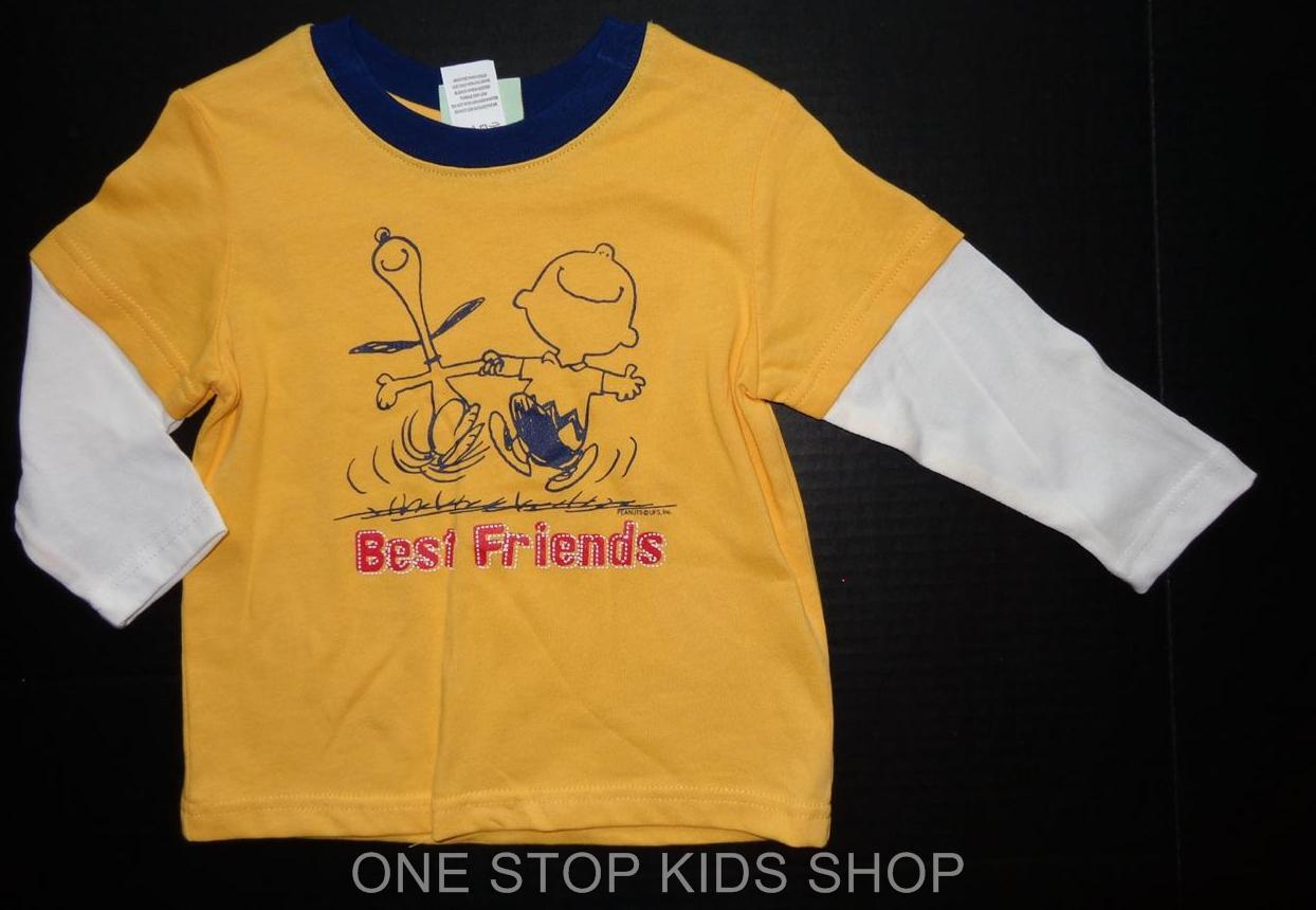 Snoopy Toddler Boys 2t 3t 4t Long Sleeve Tee Shirt Top