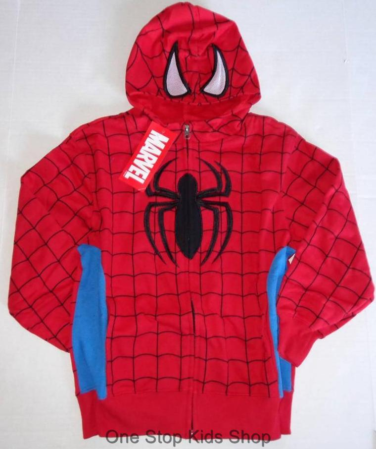 This deluxe Spider-Man costume comes from the Homecoming film. It's a full body jumpsuit with a webbing print on the exterior. It has the bright red and blue colors that Spider-Man is known for and comes with attached boot covers.