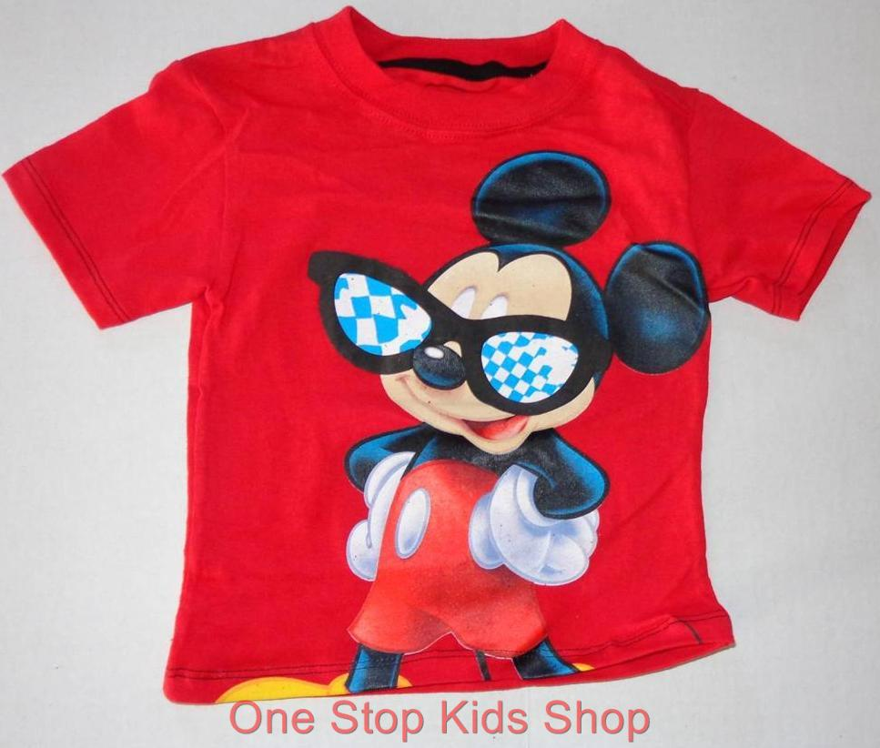 Mickey Mouse Toddler Boys 2t 3t 4t Short Sleeve Tee Shirt