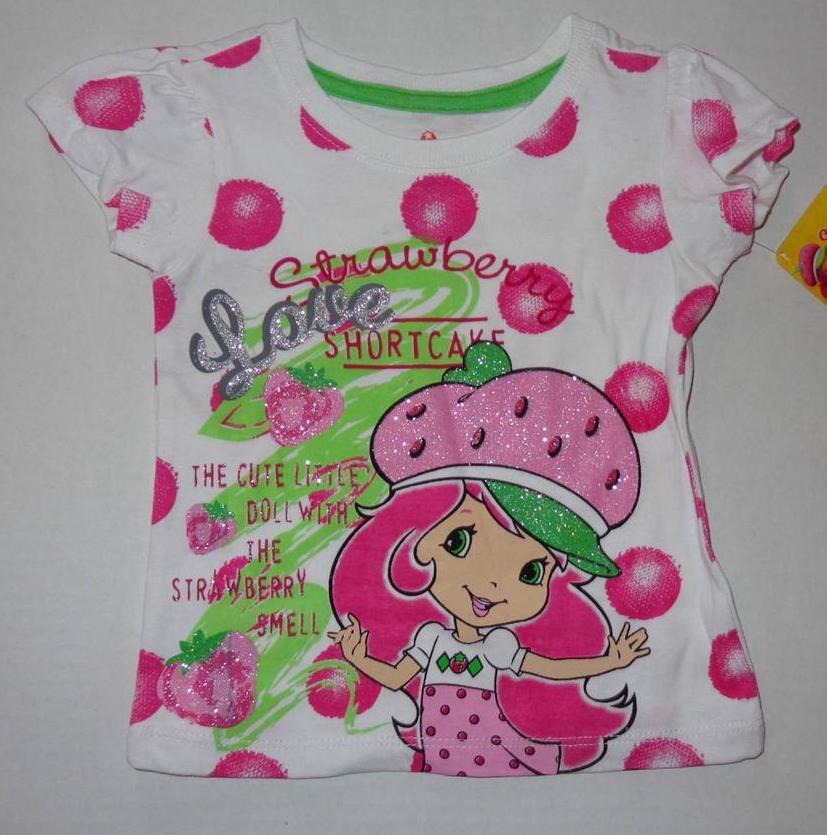 STRAWBERRY SHORTCAKE Toddler Girls 2T 3T 4T Tee SHIRT Top