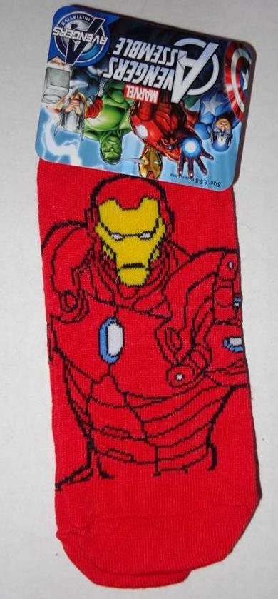 IRON MAN Spiderman CAPTAIN AMERICA Boys One Pair of SOCKS Stockings Shoes Marvel