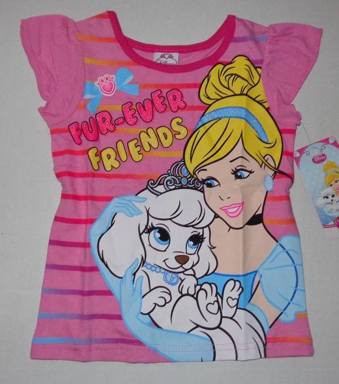 disney princess girls 2t 3t 4t tee shirt top aurora cinderella palace pets belle ebay. Black Bedroom Furniture Sets. Home Design Ideas
