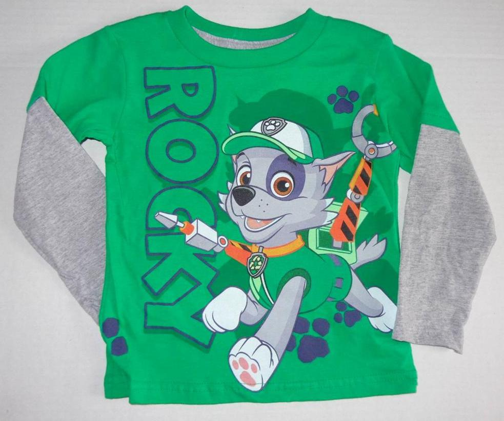 ... PATROL Toddler Boys 2T 3T 4T 5T Long Sleeve Tee SHIRT Top Rocky Chase