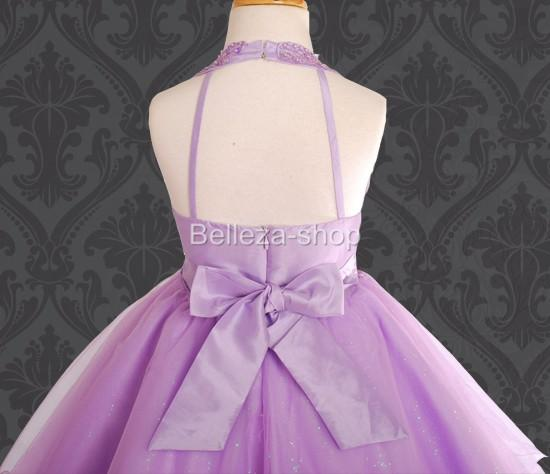 Purple Flower Girls Party Pageant Dress Sz 5 6 FG13PU