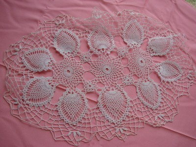 Free Crocheted Pineapple Doily Pattern