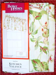 Better Homes And Gardens Lilac Print Kitchen Valance 60x16