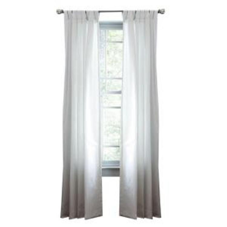 Martha stewart living pure white classic cotton tab top curtain panel