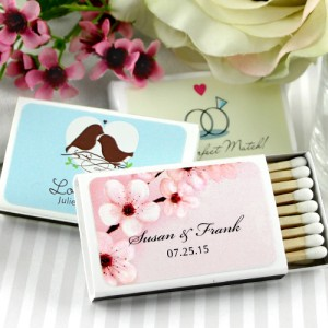 50 Personalized Custom Wedding Supplies Matches Match Boxes Party