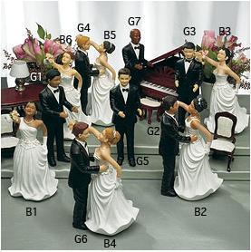 Interchangeable-Funny-Comical-Bride-Bald-Groom-Ethnic-Wedding-Cake-Toppers