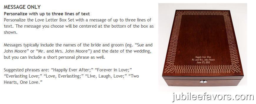 Love Letter Wedding Ceremony Wine Box Set Unity Ceremony