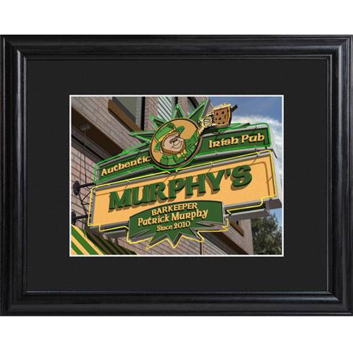 Irish Man Cave Signs : Irish pub man cave bar sign personalized custom print