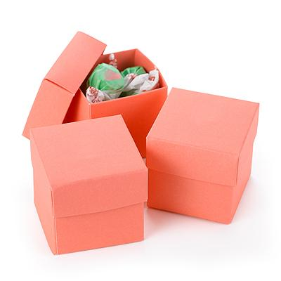 25 Two Piece Wedding Candy Party Supplies Favor Gift Box 2x2x2 - 20 Colors