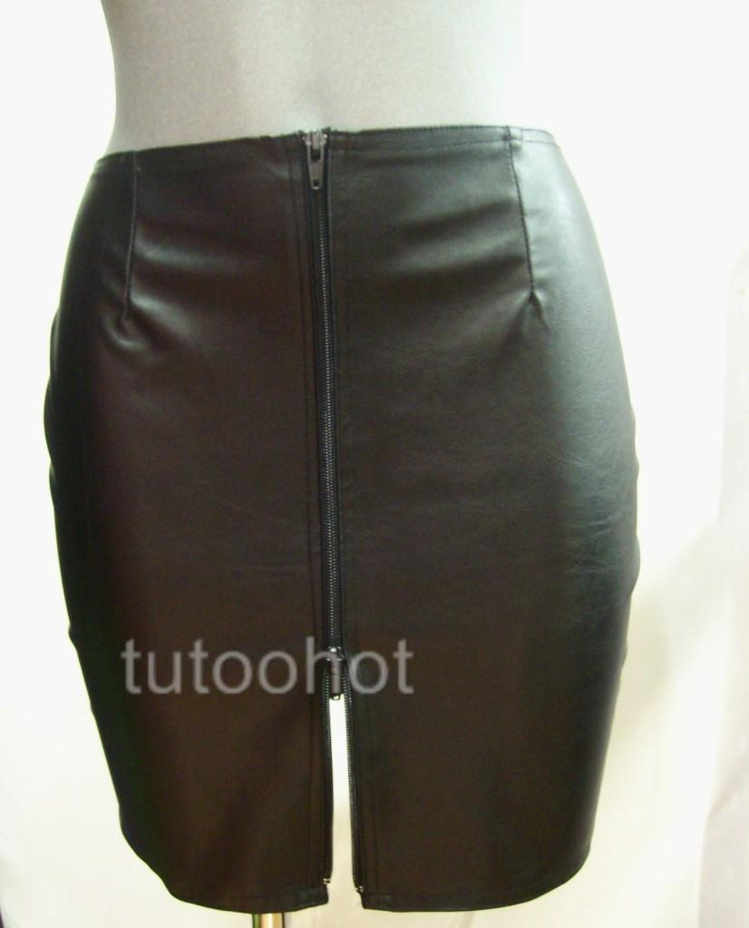 black pvc leather look mini skirt 8 10 12 14 16 18 20 ebay