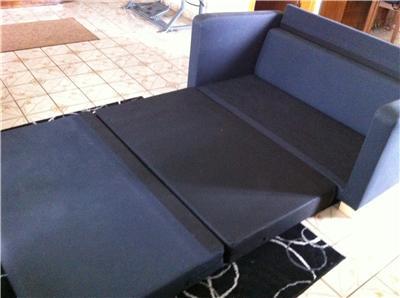 SOLSTA SOFA BED DARK GRAY IKEA 700 871 08 DORM STUDENT COLLEGE OFFICE SIZE EUC