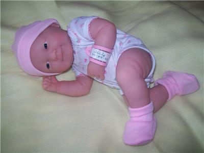 Designer Newborn Baby Girl Clothes on Berenguer La Newborn Vinyl Baby