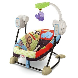 Luv u zoo space saver portable 2 in 1 musical baby swing vibrating seat ebay - Best baby swings for small spaces image ...