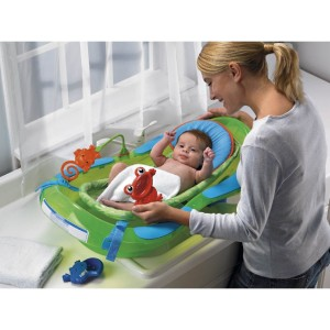 fisher price rainforest baby bath time tub ebay. Black Bedroom Furniture Sets. Home Design Ideas