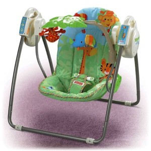Awesome Fisher Price Rainforest Open Top Take Along Baby Swing Gr8 Space Saver Ebay