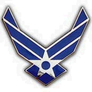 United States Air Force Logo II Wings Lapel / Hat Pin USAF New