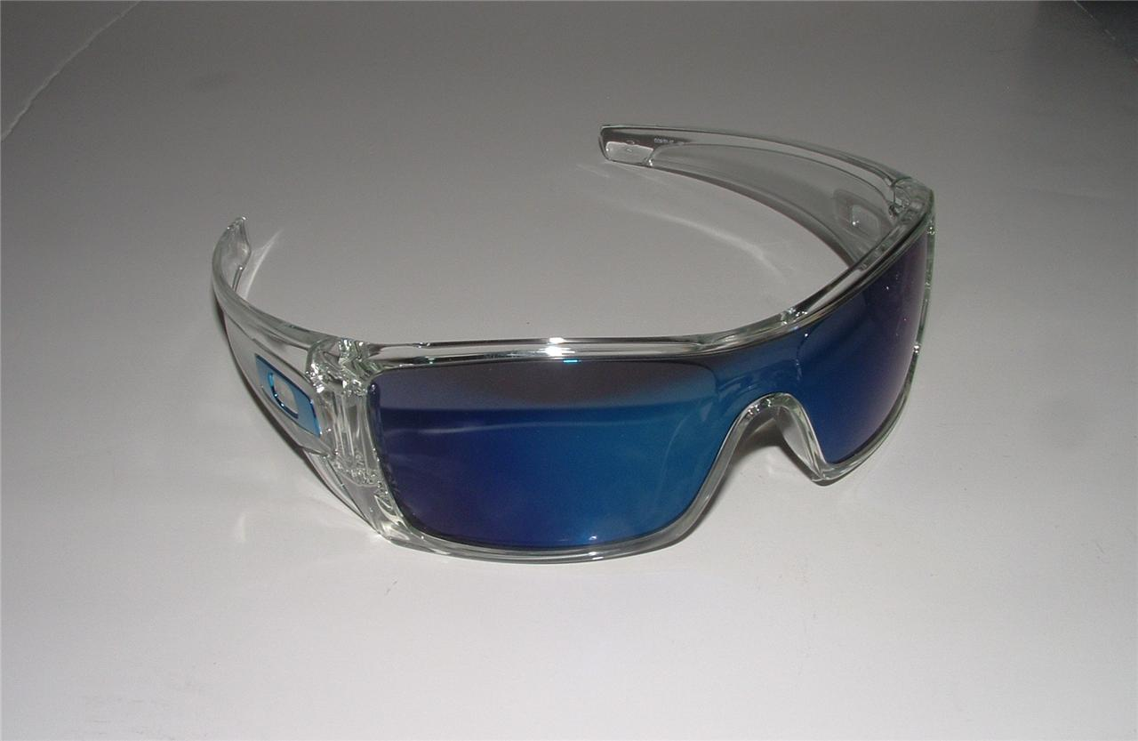 Details about Oakley Batwolf Polished Clear OO9101-07  Brand New Oakley Logo Transparent