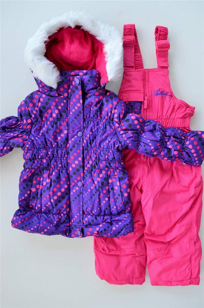 nwt girls 2t 3t 4t weatherproof 2 piece winter snowsuit
