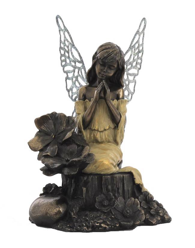 Little fairy prayers child poly resin cold cast bronze statue figurine ebay - Fairy statues for sale ...
