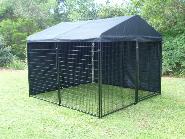 Pet dog chicken pup cat enclosure run cage kennel yard for Dog run cage enclosure