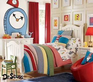 details about pottery barn kids dr seuss new twin bedding quilt euro