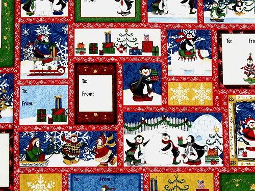 patchwork stoff quilt weihnachten pinguin bilder labels. Black Bedroom Furniture Sets. Home Design Ideas