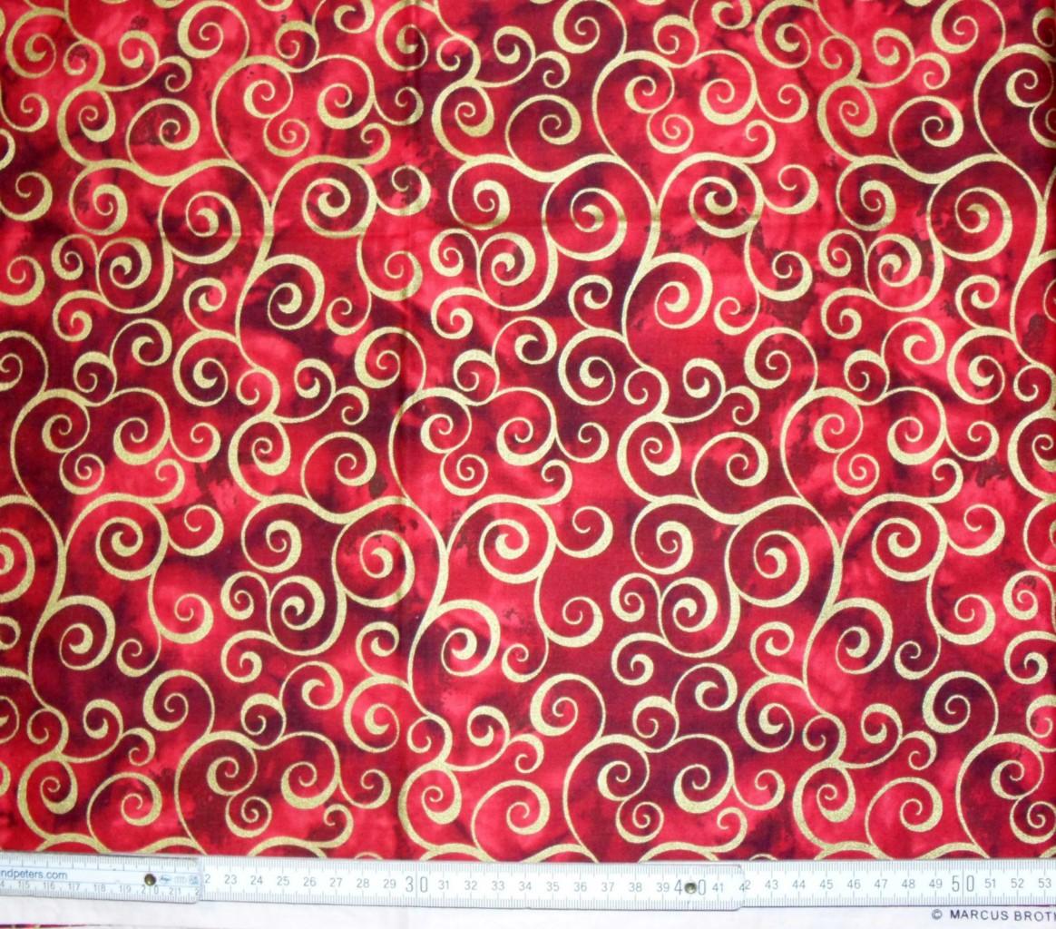 patchwork stoff quilt weihnachten christmas gold swirls. Black Bedroom Furniture Sets. Home Design Ideas