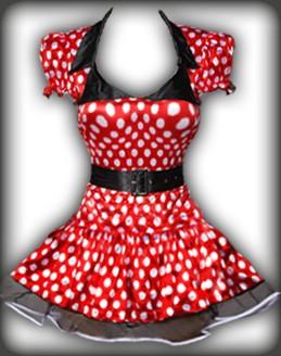 b015 sexy mickey maus karneval kost m minnie kleid set ebay. Black Bedroom Furniture Sets. Home Design Ideas